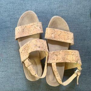 Bussola PEG CORK NATURE open toe sandals